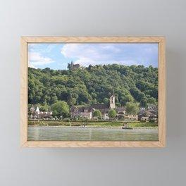 Burg Osterspai am Rhein Framed Mini Art Print