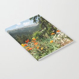 Mountain garden in Switzerland mountains Notebook