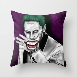 The Clown Prince in Purple Throw Pillow