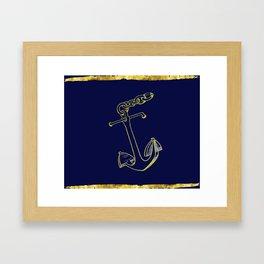 Anchor in Blue Framed Art Print