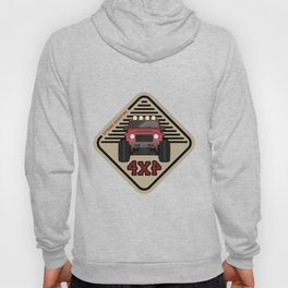 Red offroad car truck 4x4 Hoody