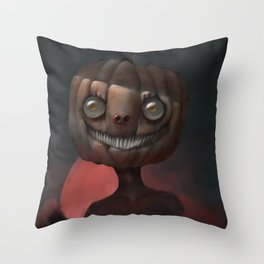 Scary Smile Throw Pillow