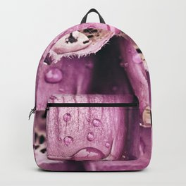 Pink wet flowers Backpack