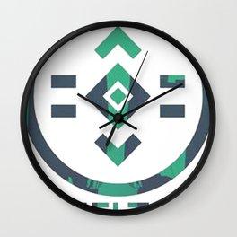 porter robinson & madeon shelter green Wall Clock
