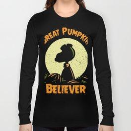 Great Pumpkin Believer - Pumpkin Shirt - Funny Pumpkin Halloween Costume Long Sleeve T-shirt
