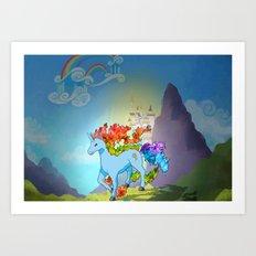 Rainidash Art Print