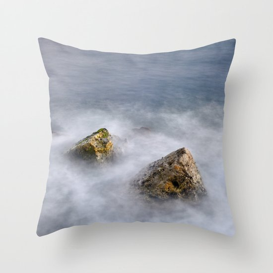 Two stones at sunset Throw Pillow