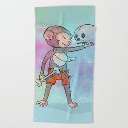 Monkey Pirate Beach Towel