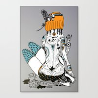 redhead Canvas Prints featuring Redhead by Zinaida Kazantseva