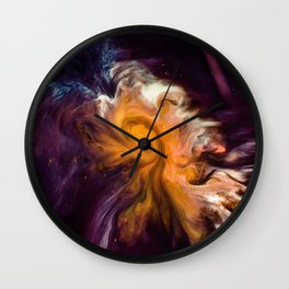 Before Time Paint Galaxy (Color) Wall Clock