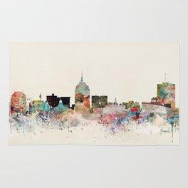 fresno skyline Rug