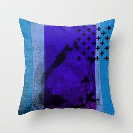 Cool Cross Blue 002 Throw Pillow