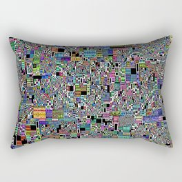 Handmade Fractal Geo Abstract 1 Rectangular Pillow