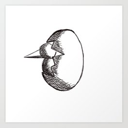 Metaphysical Penguin hatching Art Print