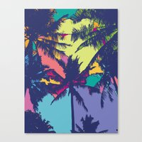 palm tree Canvas Prints featuring Palm tree by PINT GRAPHICS