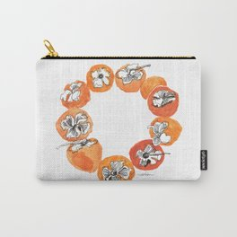 Persimmon Wreath Carry-All Pouch