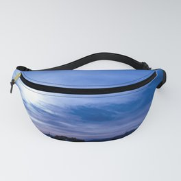 The distant sun and the deep blue sky. Fanny Pack