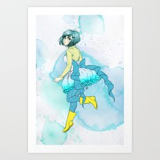 Hoop skirts and Rain boots. Art Print