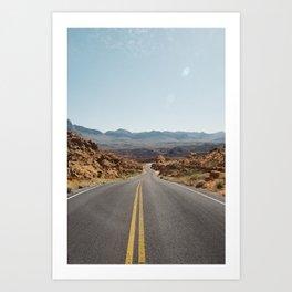 On the Desert Road Art Print
