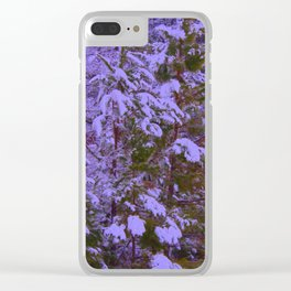 Royal Pines with Saturation, Warmify, and Glow Filters Clear iPhone Case