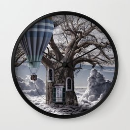 Home tree up in the clouds Wall Clock