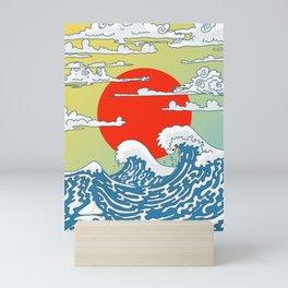 Japanese waves Mini Art Print