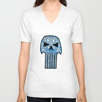 celtic V-neck T-shirts featuring Celtic Punisher by ronnie mcneil