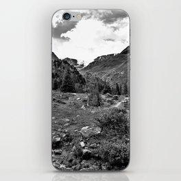 garden further alps kaunertal glacier tyrol austria europe black white iPhone Skin