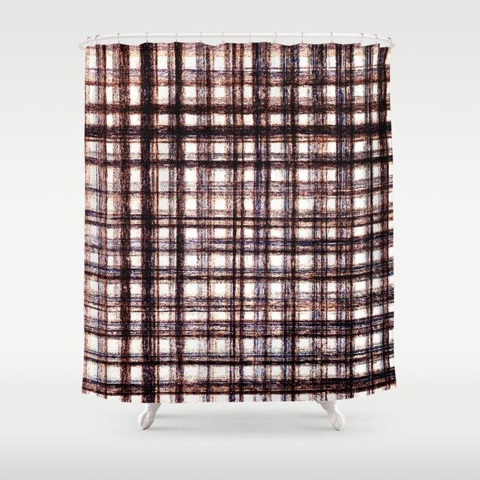 Lines grunge look - BBF340 Shower Curtain