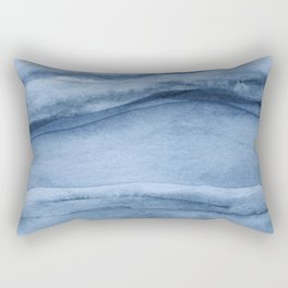 Indigo Blue Agate Pattern Rectangular Pillow