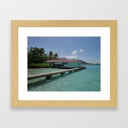 Pusser's Marina Cay, British Virgin Islands Framed Art Print