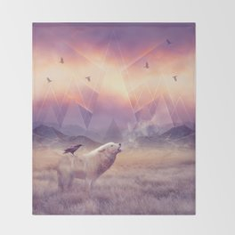 In Search of Solace Throw Blanket
