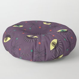 Reptile witch eyes pattern Floor Pillow