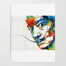 Colorful Dali Art by Sharon Cummings Poster