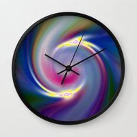 nietzsche Wall Clocks featuring Dancing Stars by Geni