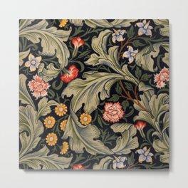 William Morris Laurel Multi-Colored Floral Textile Pattern Sunflower, Aster, Dahlia Metal Print