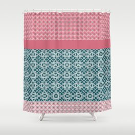 Japanese Style Quilt Shower Curtain