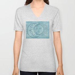 Sun Moon And Stars Batik Unisex V-Neck