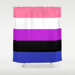 Genderfluid Flag Shower Curtain