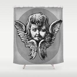 Cherub Face | Angel | Vintage cherub | Vintage angel | Angel decor Shower Curtain