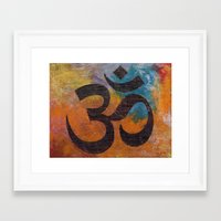 om Framed Art Prints featuring Om by Michael Creese