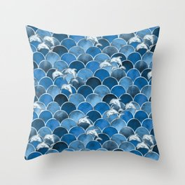 Wave Jumpers (Blue) Throw Pillow