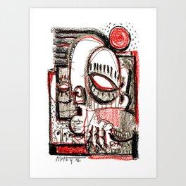 Red Dwarf - b&w Art Print