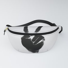 Peace — square and gray Fanny Pack