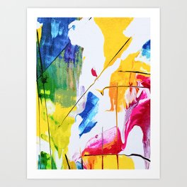 Endless Abstract #abstract #color Art Print