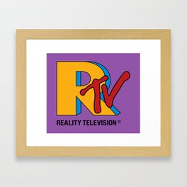 Reality Television Framed Art Print