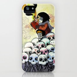 """Sugar Skull Song: You are Where You are Because of Them"" 2011 iPhone Case"