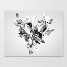 Twist Of Heart - White Canvas Print