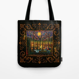 Halloween art The Headless Horseman of Hudson Valley Tote Bag