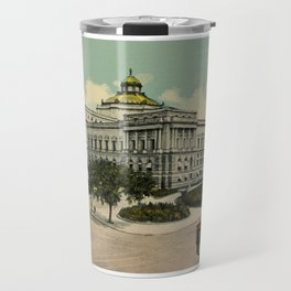 Library of Congress Washington DC 1900s Travel Mug
